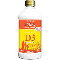 Buried Treasure, Жидкий витамин D3, с K2, 16 жидких унций (473 мл)