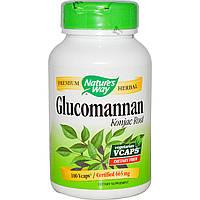 Nature's Way, Корень Глюкоманнана, 665 мг, 100 капсул