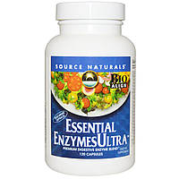 Source Naturals, Основные ультра ферменты, 120 капсул