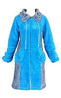 Женский короткий махровый халат