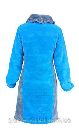 Женский короткий махровый халат, фото 2