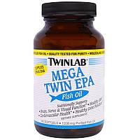 Twinlab, Мега Твин, ЭПК, Рыбий жир, 1200 мг, 60 капсул