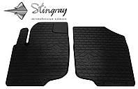Резиновые коврики Stingray Стингрей Peugeot 207 2006- Комплект из 2-х ковриков Черный в салон. Доставка по всей Украине. Оплата при получении