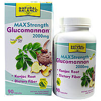 Natural Balance, Глюкоманнан, максимальная сила, 2000 мг, 90 капсул