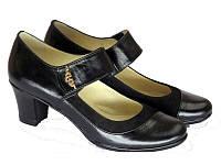 Женские туфли на среднем устойчивом каблуке, фото 1