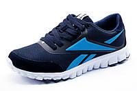 Кроссовки Reebok RealFlex мужские, текстиль, темно-синие, р. 41 42 43 44 46