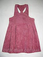 Детский сарафан из вельвета Мальвина зимний 3-7 лет 3-7 лет 122 Розовый