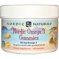 Nordic Naturals, Жевательные конфеты Nordic Omega-3 Gummies, со вкусом мандарина, 60 конфет