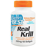 Doctor's Best, Real Krill, 350 мг, 60 гелевых капсул