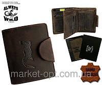 Кожаный кошелек мужской  Alwys Wild CROCODILE