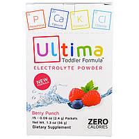 """Ultima Health Products, """"Предельный восполнитель"""", порошок электролитов со вкусом вишневого пунша, 15 пакетиков по 0,09 унции (2,4 г)"""