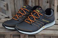 Мужские кожаные кроссовки Salomon 12080 черные