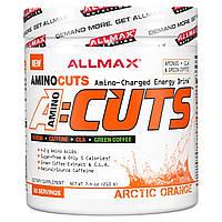 ALLMAX Nutrition, AMINOCUTS (ACUTS), аминокислоты с разветвленной цепью для снижения веса (КЛК + таурин + зеленый кофе), арктический апельсин, 210 г