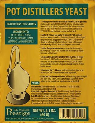 Prestige Турбо дрожжи Pot Distillers