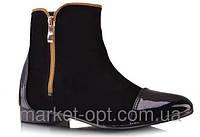 Женские сапоги 36-41 лакированный носок