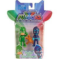 Набір з двох фігурок Герої в масках PJ Masks - Gekko і Night Fever