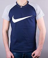 Модная мужская футболка-реглан NIKE