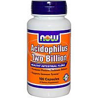 Now Foods, Ацидофилин 2 млрд, 100 Капсул