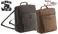 Кожаный рюкзак бренд ALWAYS WILD ХИТ