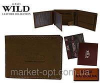 Мужской кожаный кошелек  ALWAYS WILD коричневый