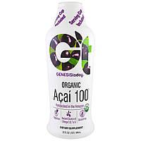 Genesis Today, Асаи 100, 100% чистый сок асаи, 32 жидких унции (946 мл)