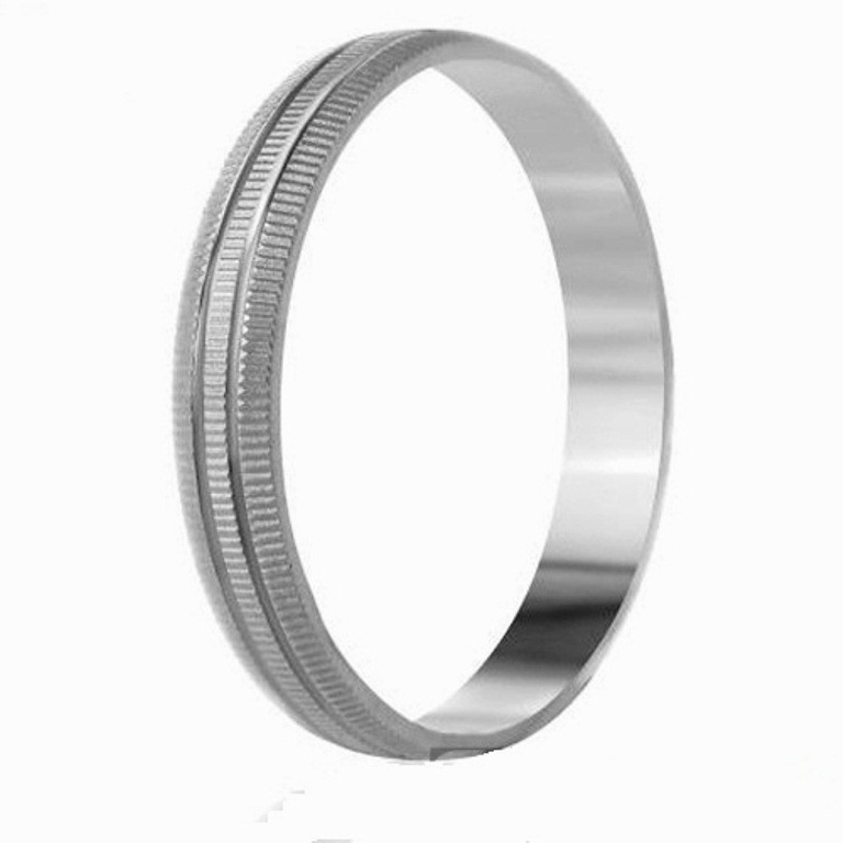 Серебряное обручальное кольцо  1.2, 17.8
