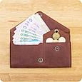 Женский кошелек из кожи 1.0 коричневый, фото 7