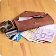 Женский кошелек из кожи 1.0 коричневый, фото 8