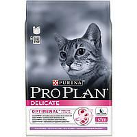 Purina Pro Plan Adult Delicate Корм с индейкой и рисом для взрослых кошек с чувствительным пищеварением. 0,4 к