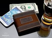 Бумажник мужской кожаный бренд Always Wild brown