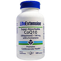 Life Extension, Super-Absorbable, CoQ10, 100 mg, 100 Softgels
