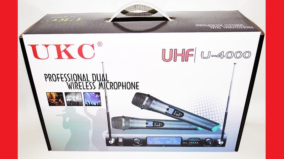 Микрофон UKC DM-4000 UHF база 2 радиомикрофона