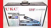 Микрофон UKC DM-4000 UHF база 2 радиомикрофона , фото 1