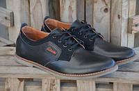 Мужские кожаные туфли Clarks 12086 черные