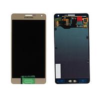 Дисплей для Samsung  A500F/ A500FU/ A500H Galaxy A5 (Midnight Black) с тачскрином, Оригинал.