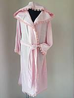 """Нежно розовый халат с аппликацией бабочки тм """"Nusa"""""""