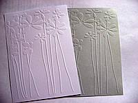 Тиснение на картоне. Цветы. 120х150 мм