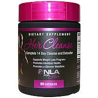 NLA for Her, Очищение для нее, полная очистка и детоксикация за 14 дней, 60 капсул