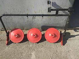 Косарка роторна на мотоблок трехдисковая, фото 3