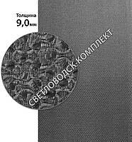 Облегчённая резина TOMS с тканью, качество А, р. 1.2*0.6 м, толщ. 9 мм, 65 Shore A, цв. черный