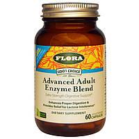 Flora, Udo's Choice, улучшенная смесь ферментов для взрослых, 60 вегетарианских капсул