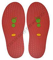 Резиновая подошва/след для обуви BISSELL, т.3,65 мм, art.111, цв. тем.красный