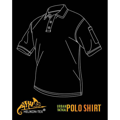 Футболка Polo TopCool-Urban Tactical-Black-Hellikon-Польша, фото 2