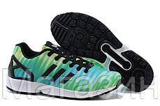 Мужские кроссовки Adidas Originals ZX 8000 Flux Адидас Флюкс зеленые с голубым, фото 2