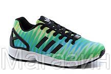 Мужские кроссовки Adidas Originals ZX 8000 Flux Адидас Флюкс зеленые с голубым, фото 3