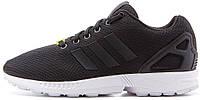 Мужские кроссовки Adidas ZX Flux Адидас Флюкс черные/белые