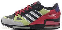 Мужские кроссовки Adidas ZX 750 Yellow Red Адидас серые/желтые/красные