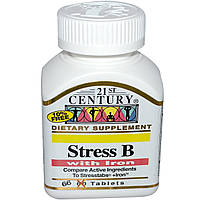 21st Century, Стресс B, с железом, 66 таблеток