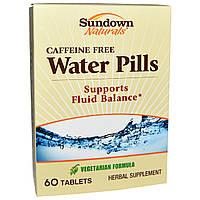 Sundown Naturals, Мочегонное средство, без кофеина, 60 таблеток