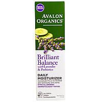 Avalon Organics, Увлажняющий крем для ежедневного использования, сияние лаванды, 2 унции (57 г)